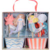 Havfrue cupcake kit fra Meri Meri