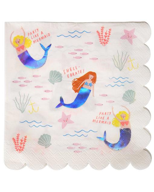 Havfrue servietter fra Meri Meri