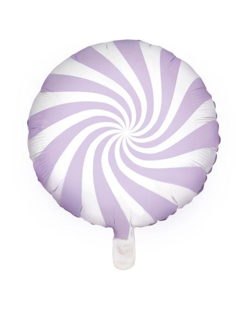 Lavendel bolche stribet slik folie ballon