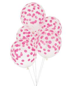 Balloner med pink konfetti print