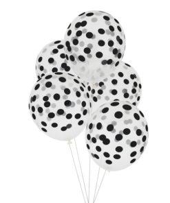 Balloner med sort konfetti print