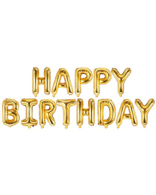 Guld fødselsdags ballon guirlande