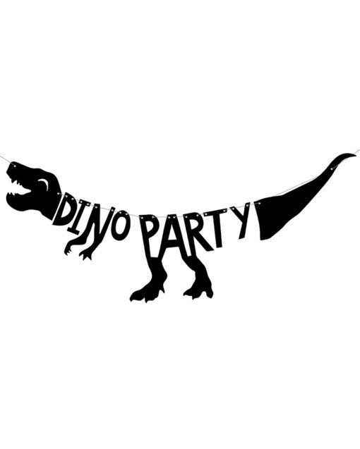 Sort dinosaur guirlande