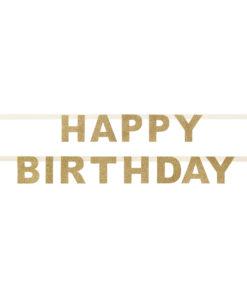 Guld glitter fødselsdagsguirlande