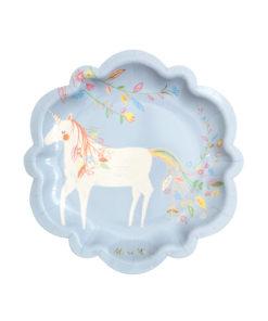 Magisk enhjørning tallerkener - Medium - Meri Meri