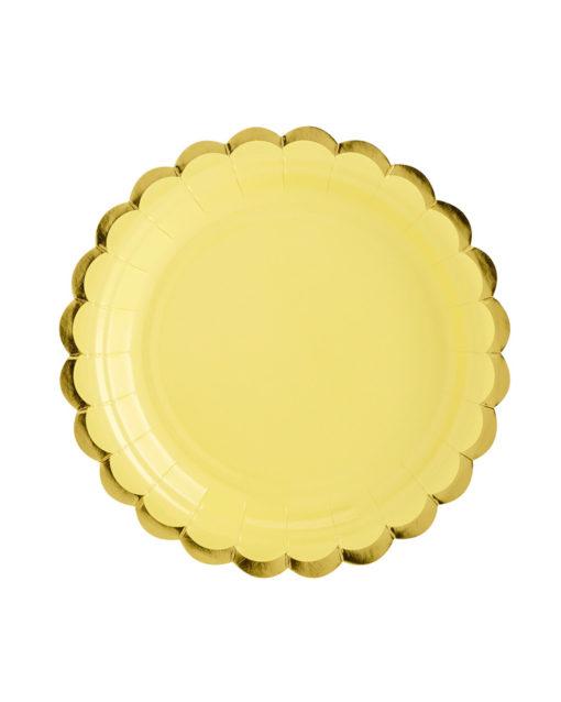 lysegule tallerkener pastelfarvet festtema