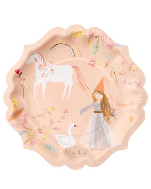 Prinsesse tallerkener fra Meri Meri