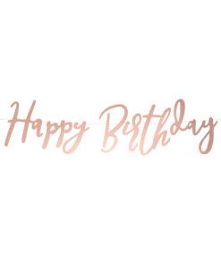 Rose gold script fødselsdagsguirlande
