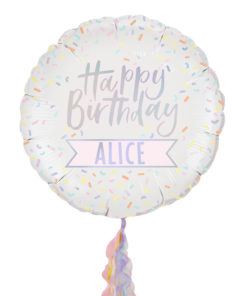 stor folieballon med navn