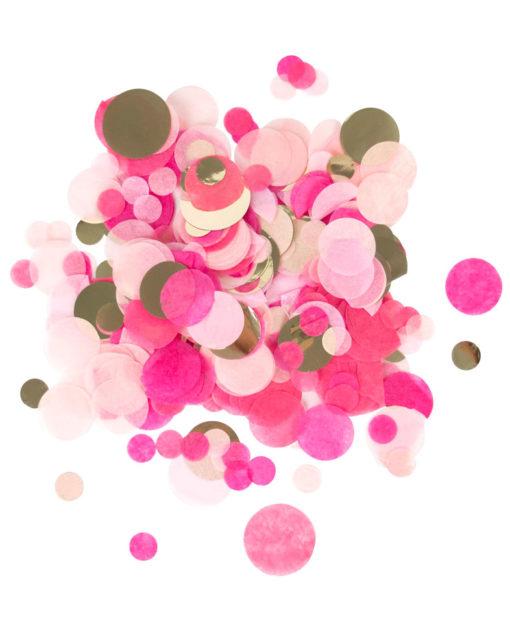Guld og lyserød konfetti mix