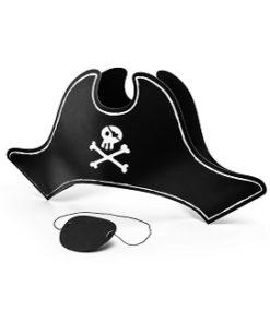 Pirat hat og øjeklap