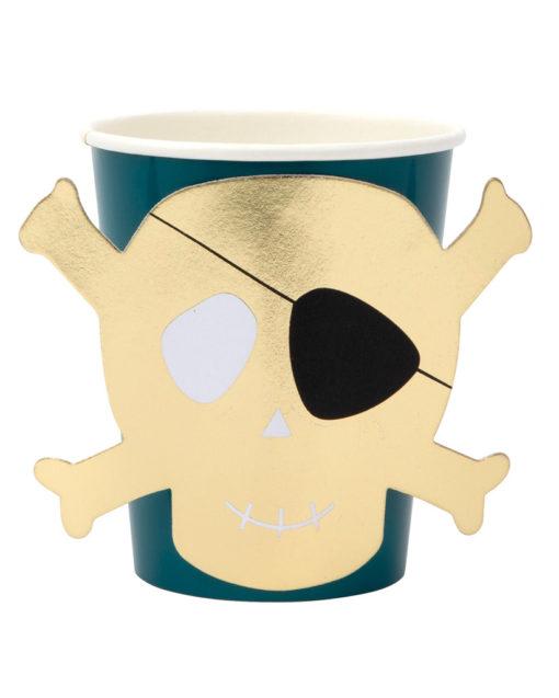 Pirat krus med dødningehoveder