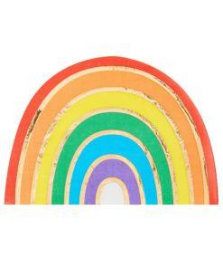 Regnbue servietter med guld