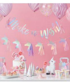 pigefødselsdag med enhjørning tema