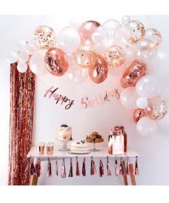 Ballonguirlande - rose gold