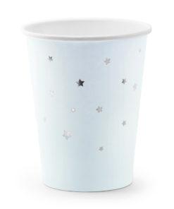 Lyseblå papkrus med guld stjerner