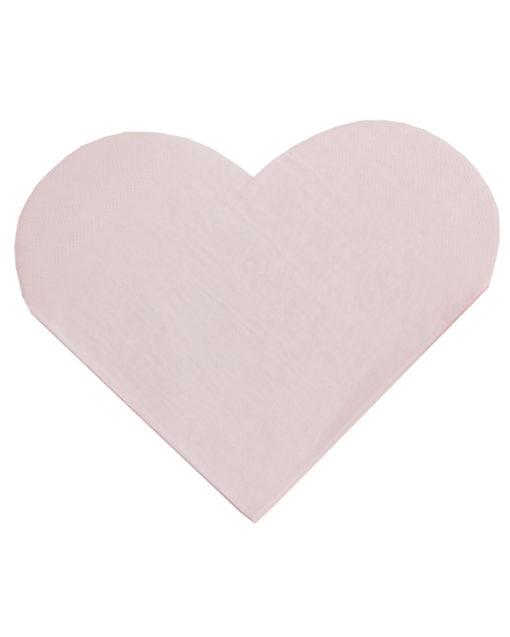 Hjerteformede servietter