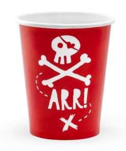 Røde pirat papkrus