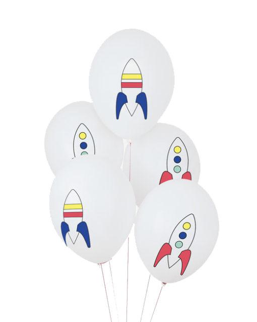Balloner med raketter