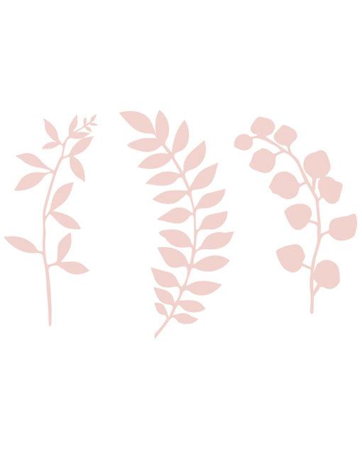 Lyserøde papirblade