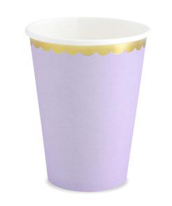 Lavendel krus med guld kant