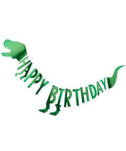 Stor dinosaur guirlande - Happy Birthday