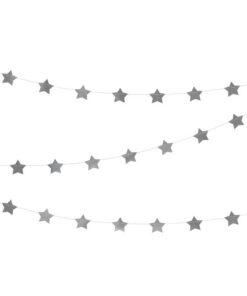 Sølvfarvet stjerneguirlande